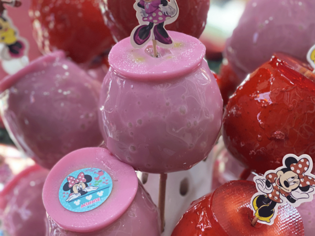 pomme d'amour rose et rouge