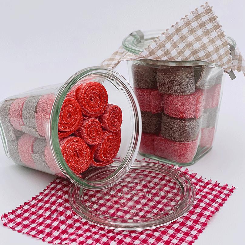 Bandeaux acidulés fraise cola