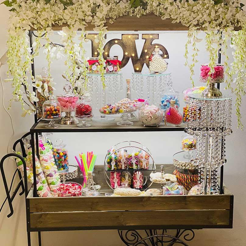 candy bar mariage love