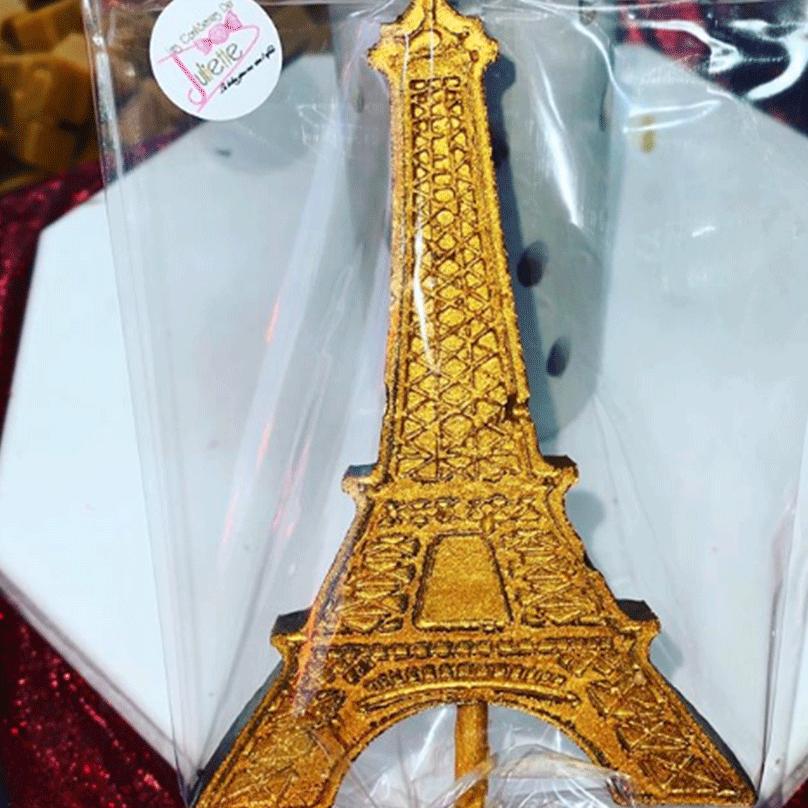 Sucette Tour Eiffel Chocolat
